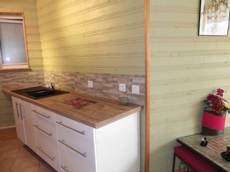 GITE TYPIQUE de 50 m2 pour 2 PERSONNES, TOUT CONFORT, LITERIE 180 CM DE QUALI, location de vacances à Fléac-sur-Seugne