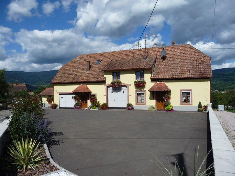 Maison située entre Strasbourg et Colmar, à la campagne, pour 6 à 7 personnes, holiday rental in Fouchy
