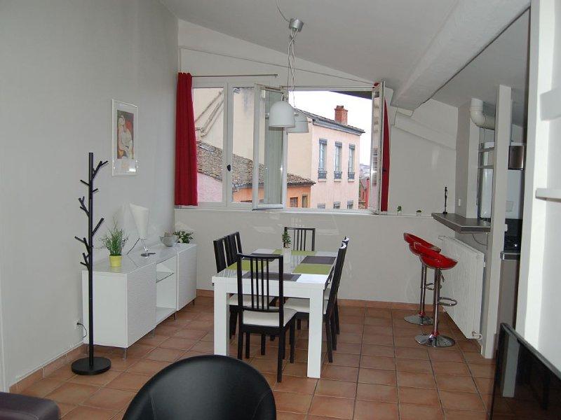 Bel appartement de 2 chambres, lumineux et calme au cœur du quartier historique, holiday rental in Lyon