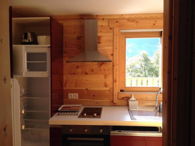 new studio all wood for 4personnes close to the s, location de vacances à Saint-Martin-de-Queyrieres
