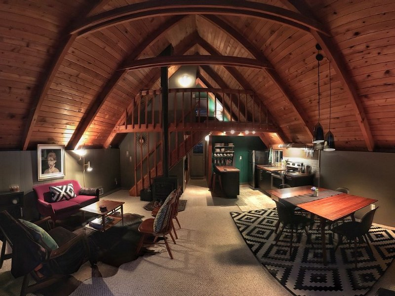 Fabulous 2 Bedroom/2 Bath A-frame Retreat - The Coolest Place On Whidbey Island!, holiday rental in Hansville