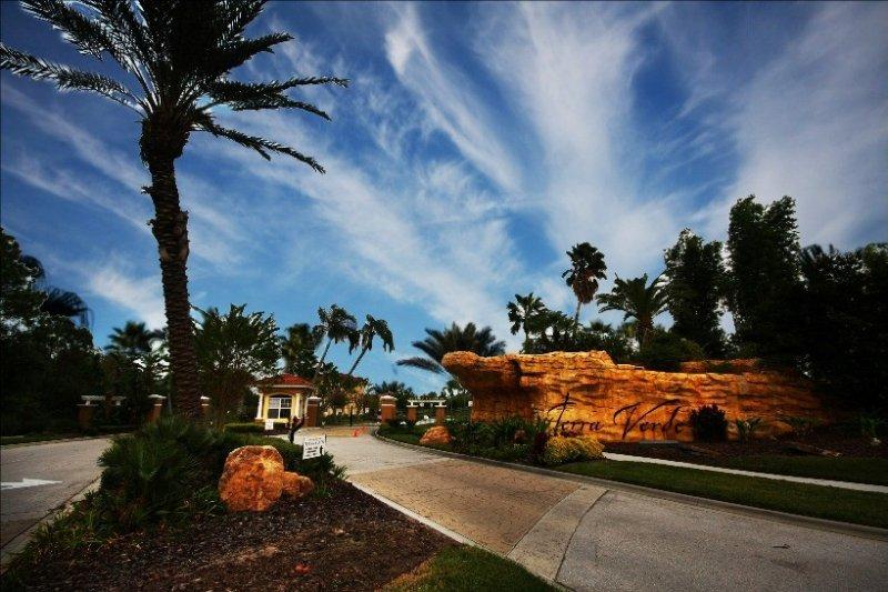 Gate of this luxury resort