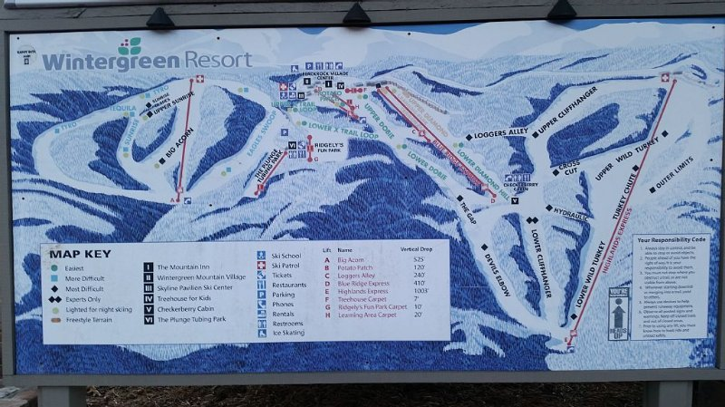 Map of the resort. We are on the top of the mountain, 2 minutes from the slopes!