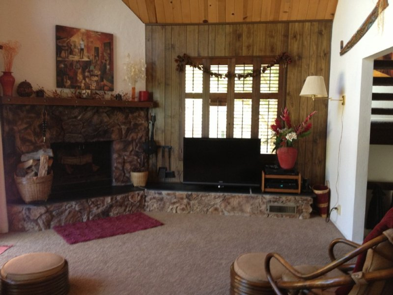 Walk to village & private dock from Delightful 3Bdr, 2Ba, w/large loft. Sleep 10, vacation rental in Lake Arrowhead