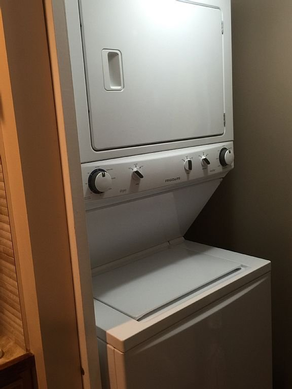 Washer/Dryer combo included for your stay!! Keep your clothes clean.