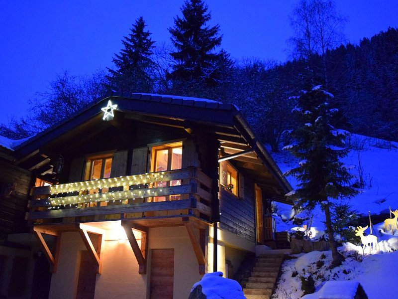 Chalet Frasques: skiing, nature, sauna, 36m2 chalet in Val d'Anniviers, vacation rental in Canton of Valais