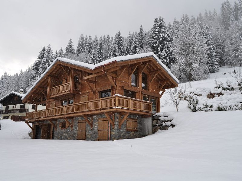 Beautiful, luxury self-catered chalet, newly built, outdoor hot tub, great views, holiday rental in La Cote-d'Arbroz
