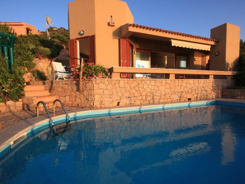 Stylish 3 bed villa, private pool, spectacular 180° sea view, vacation rental in Costa Paradiso