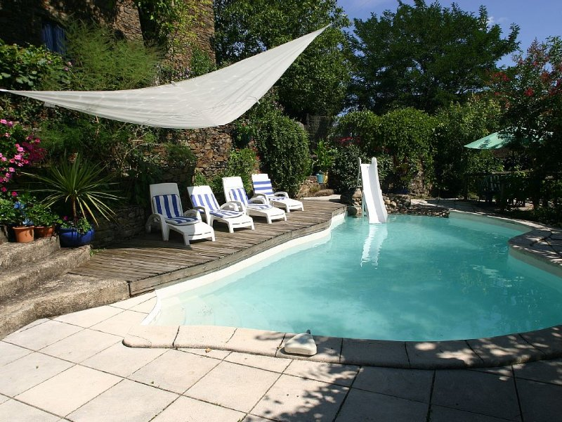 Manor East Wing. Aveyron-Cantal. Stunning Views Over River Lot, Sleeps 6., holiday rental in Senezergues