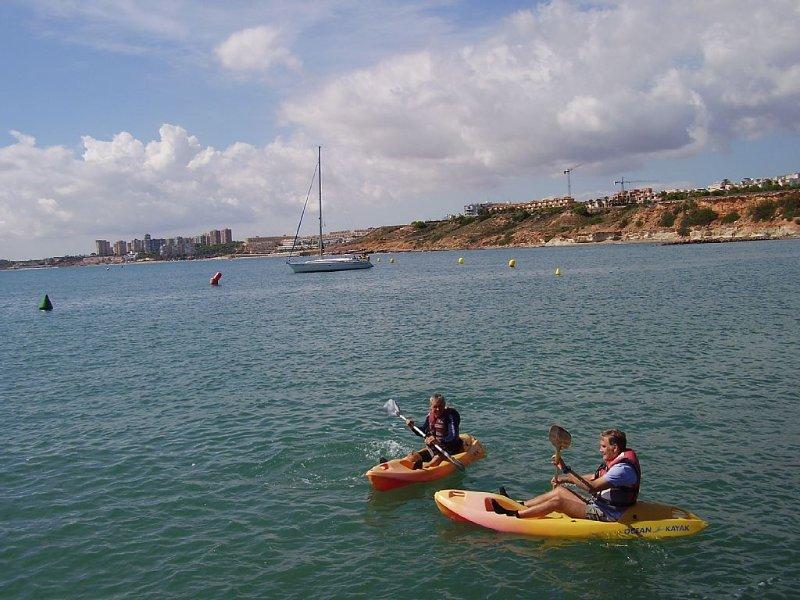 SOT Kayak hire Stella Maris, Cabo Roig Marina + Dinghy, Jet Ski and Powerboat.