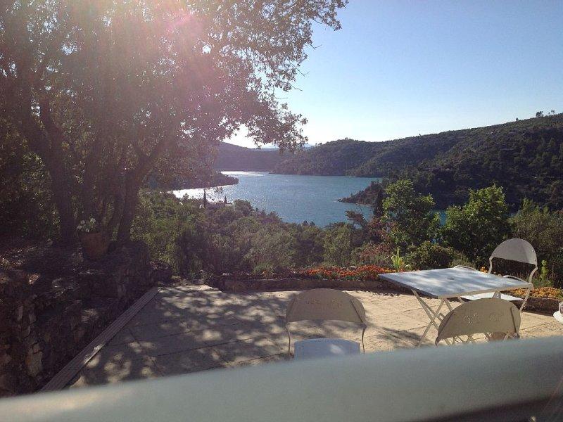 T1 de charme classé ***  en RDC de villa avec jardin et piscine, accès privé lac, holiday rental in Alpes-de-Haute-Provence