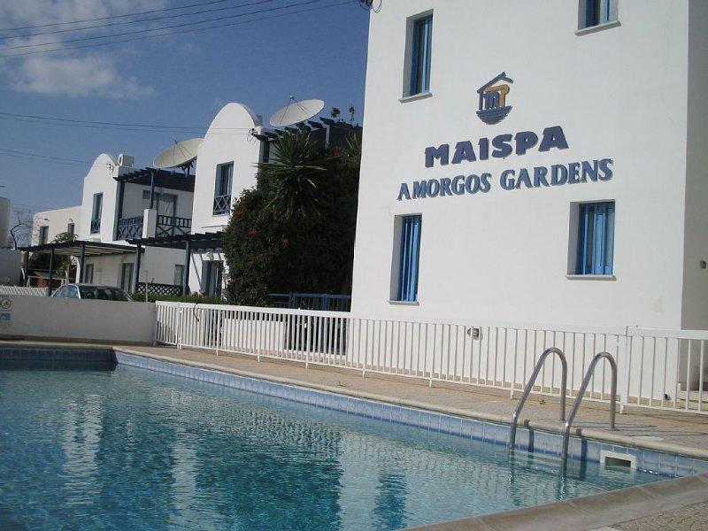 Spacious Ground Floor 2 bedroom apartment, private garden, great quiet location, vacation rental in Paphos