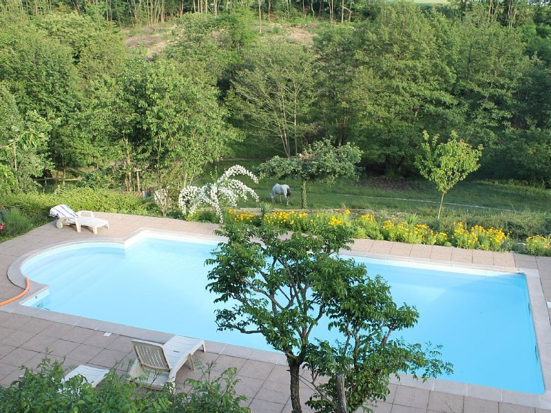 For lovers of the country house for 8 people with private pool, location de vacances à Beauvoir-de-Marc