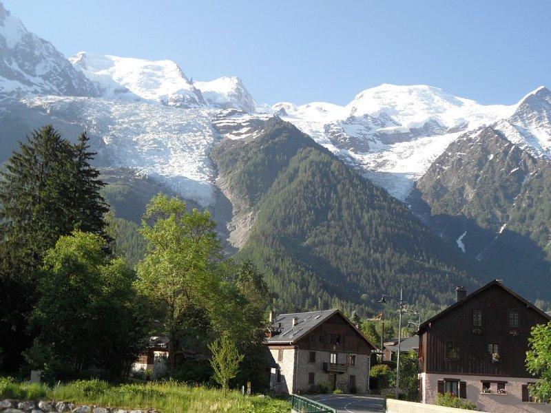 Appartement en chalet situé à 2,5 km du centre de Chamonix, pour 2 à 4 personnes, location de vacances à Les Bossons