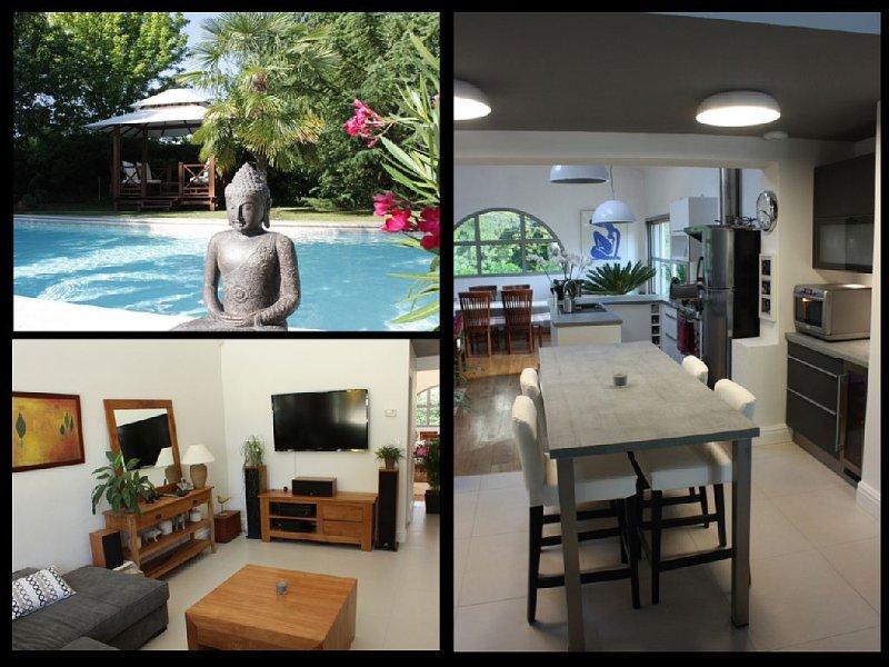 Villa De Standing - Jardin clos - Piscine Chauffée - Calme et grand confort, casa vacanza a Arsac