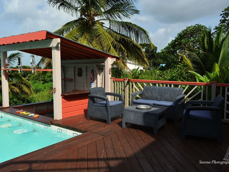 Magnifique villa individuelle, vue imprenable sur mer, piscine privée, location de vacances à Sainte Rose