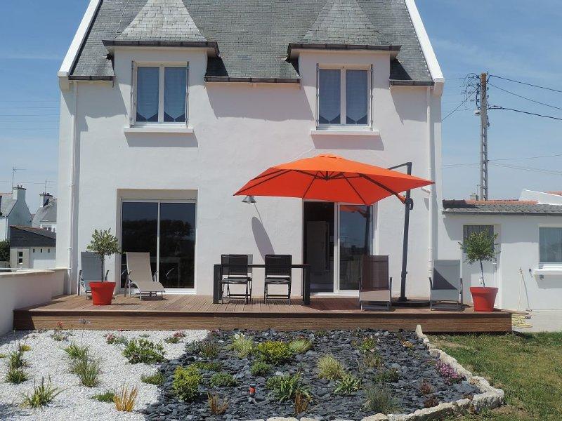 Située dans un ruelle calme, maison entièrement rénovée en 2015, location de vacances à Penmarch