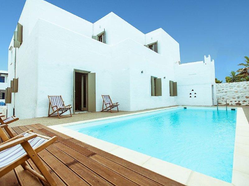 Grande Villa Comfort avec piscine a Paros (Naoussa) - Code AMA ***********, vacation rental in Paros