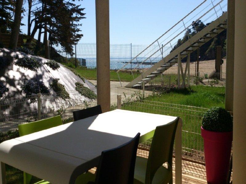 APPARTEMENT VUE MER - BRETAGNE - 4 PERSONNES - ETABLES SUR MER, location de vacances à Étables-sur-Mer