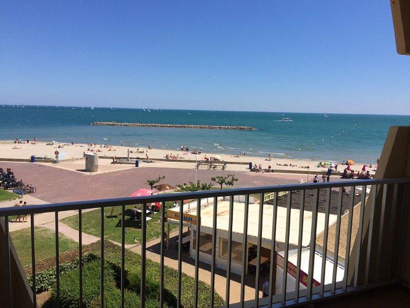 Beau T2 Palavas-les-Flots, vue mer, accès direct plage, 5 personnes, alquiler vacacional en Palavas-les-Flots
