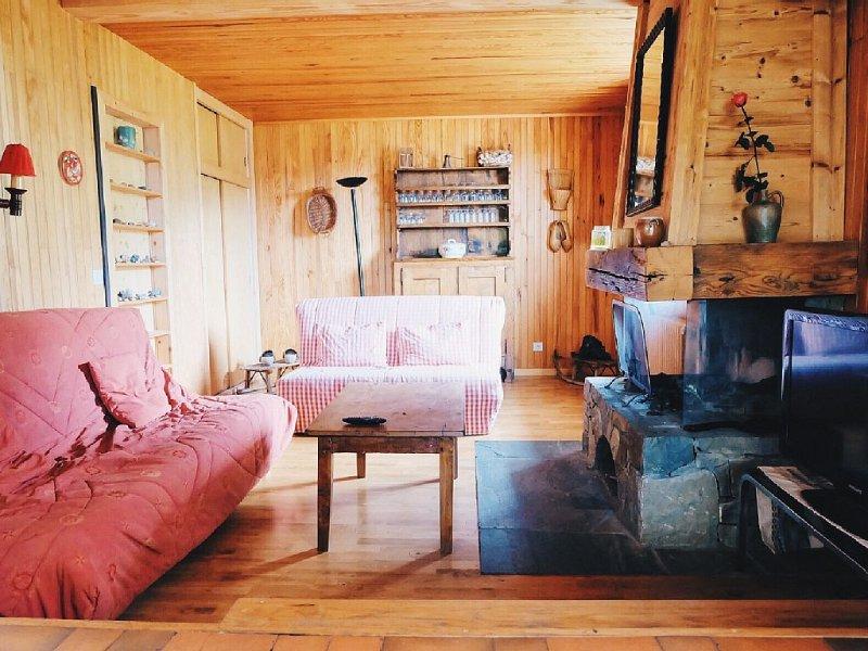 Chalet familial La Clusaz - 11 personnes - Vue exceptionnelle Aravis - Balme, holiday rental in La Clusaz