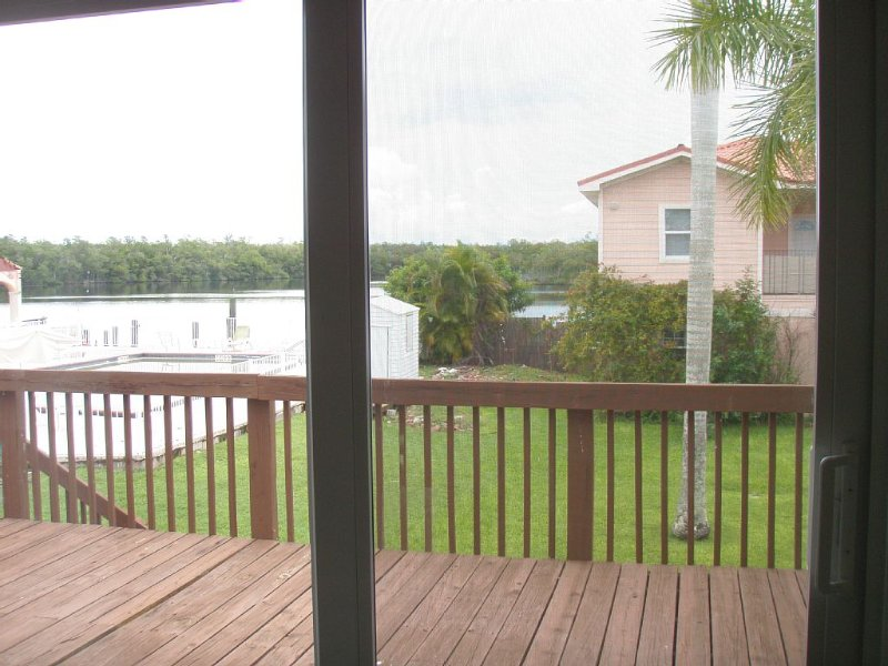 View from the kitchen /dining are out on to the deck