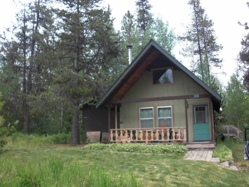In town deep woods seclusion, 2br+sleeping loft, holiday rental in McCall