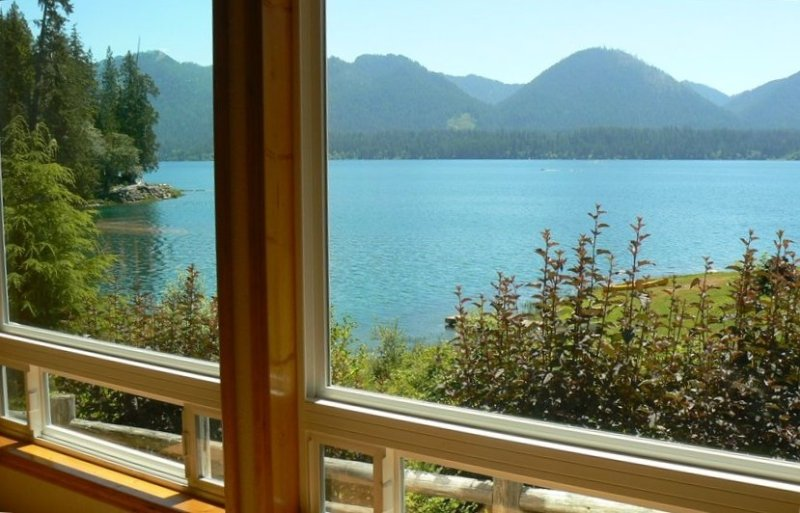 Secluded Lakefront, Private Low Bank Beach, Hot Tub, Dog Friendly, vacation rental in Quinault