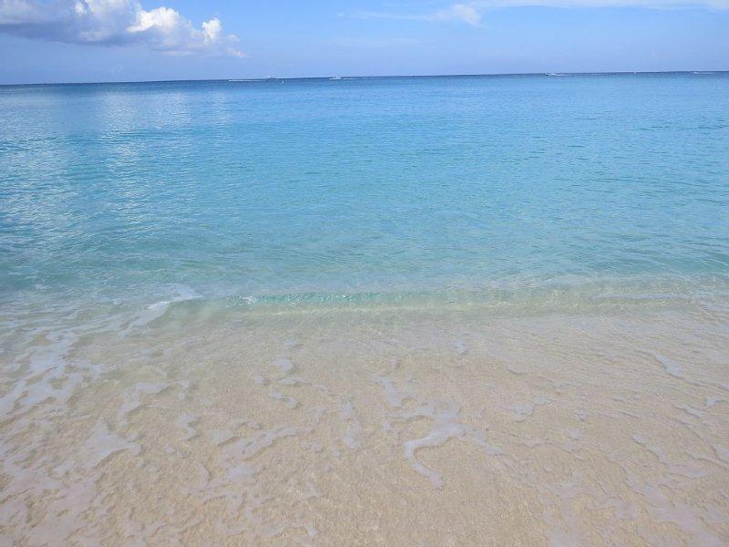 Soft sandy beach entry, no rocky shores here!!