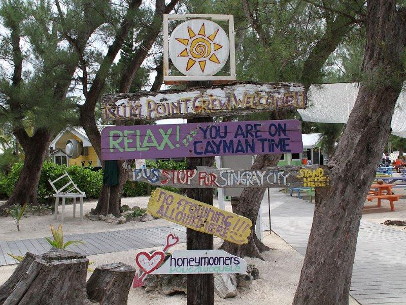 Rum Point...a fun local hangout. Swim, Snorkel, Sun, or  sample Food & Beverages