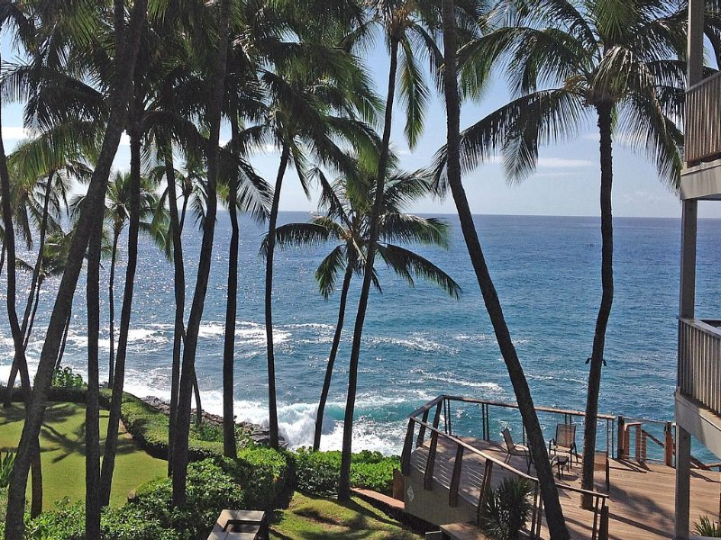 Great Oceanview from the Lanai overlooking the large sundeck area!