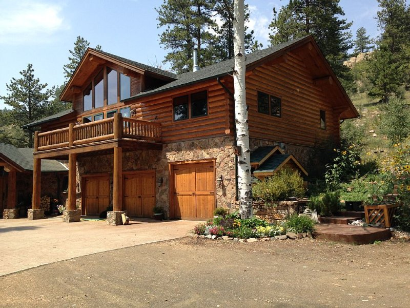Luxury log home with style-serene mountain living at it's finest!, holiday rental in Silver Cliff