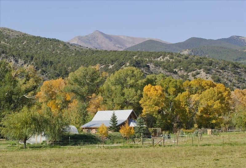 Little River Guest House  private hot tub, pond and trout stream   no mice, vacation rental in Salida