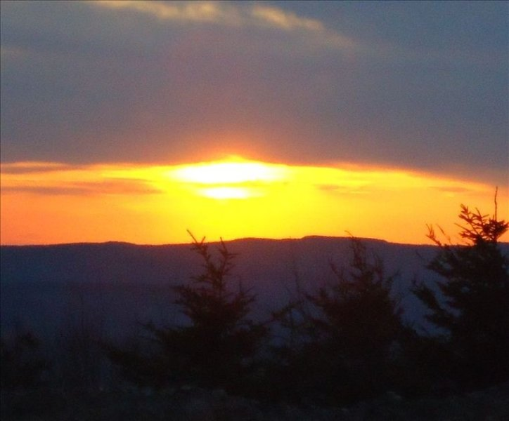 The end of a beautiful day on Snowshoe Mountain