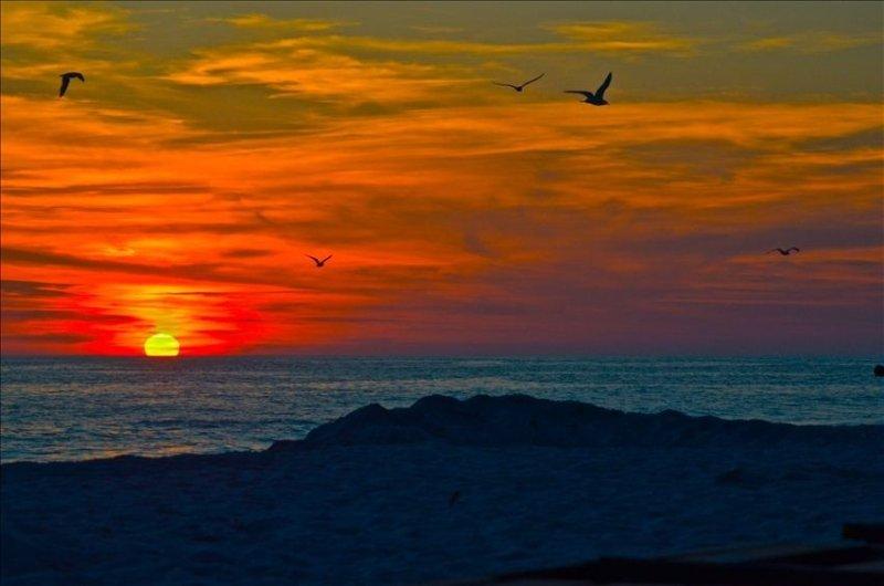 vista impresionante puesta de sol