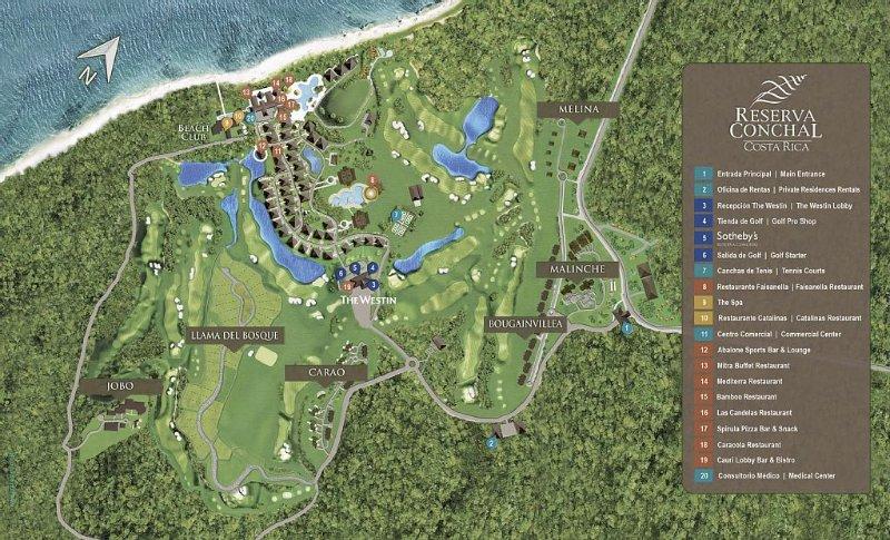Reserva Conchal Master Plan - Unit is located in the Malinche Sub-area