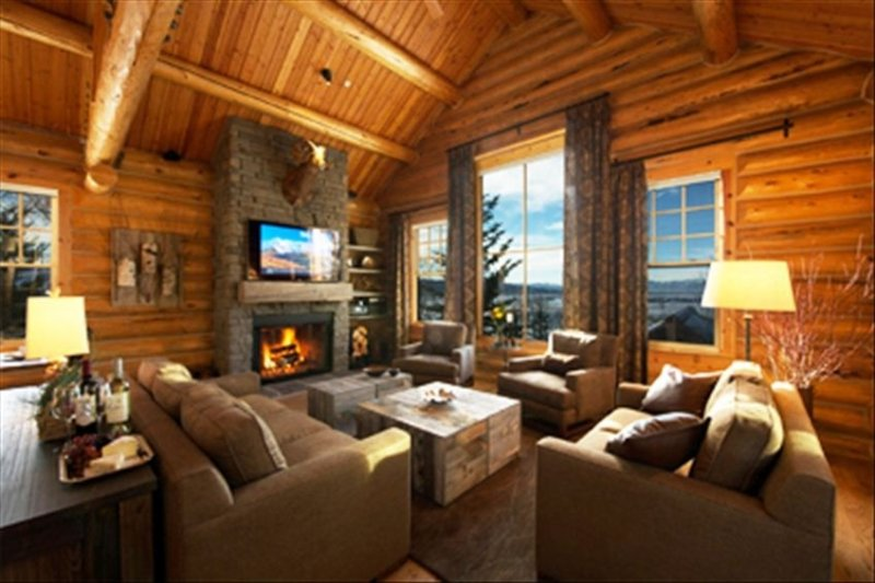 TetonVillageLogHome View Luxury House Adjacent to Lifts, Village & Four Seasons, alquiler de vacaciones en Teton Village