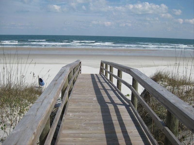 Private gated boardwalk to beach