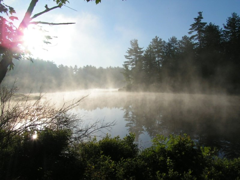 Mist coming off from Beaver River