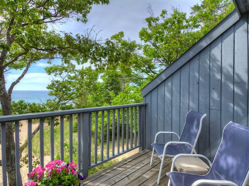 Lake Michigan Beachfront Condo with A/C! Sunsets over Sleeping Bear Bay, vakantiewoning in Leelanau County