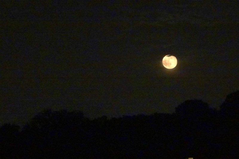 Vista del cielo nocturno desde la terraza