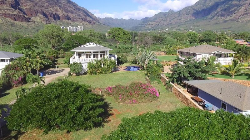 Aerial Shot of our One Acre Property on Oahu's West Coast