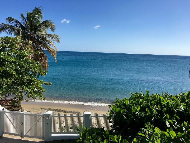 Gated 'Beach Bliss' House * Directly On Calm, Swimmable Beach In Protected Bay, vacation rental in Cayey