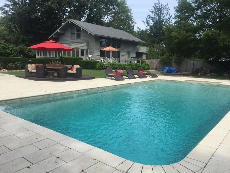 Pool with spacious deck