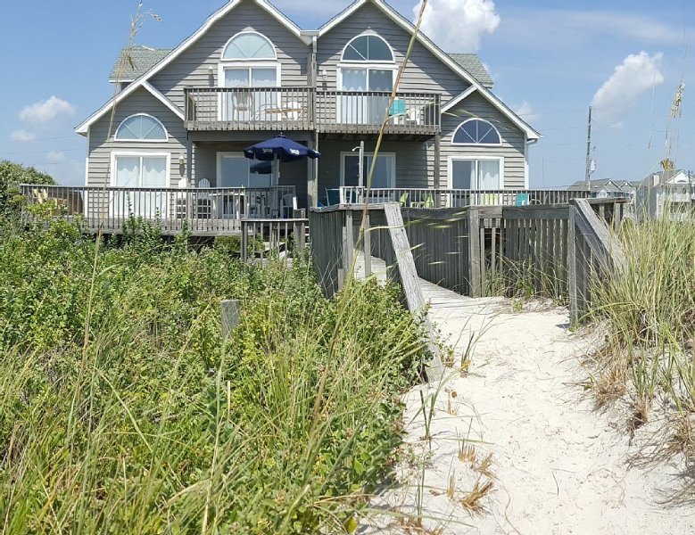 View of the house from beach dune