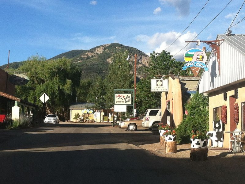 Village of Arroyo Seco. Five minutes by car or a fifteen minute lovely walk!
