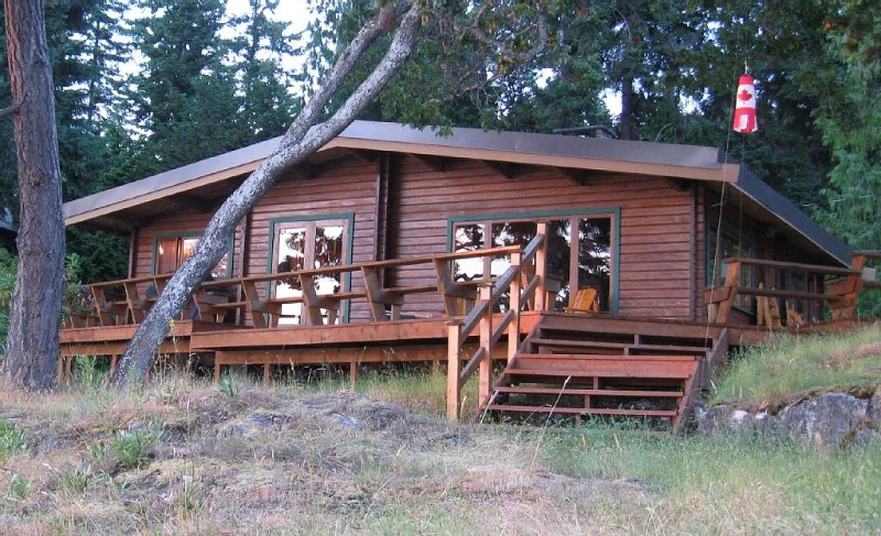 Over 1,000 sq ft of sundeck on south and east sides of Cabin!