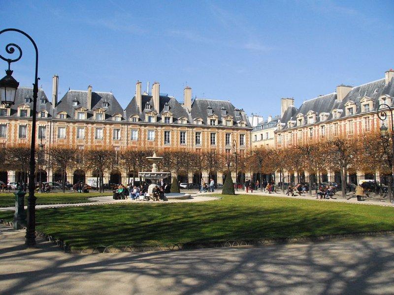Place de Vosges, one of the treasures of the Marais, a short walk away