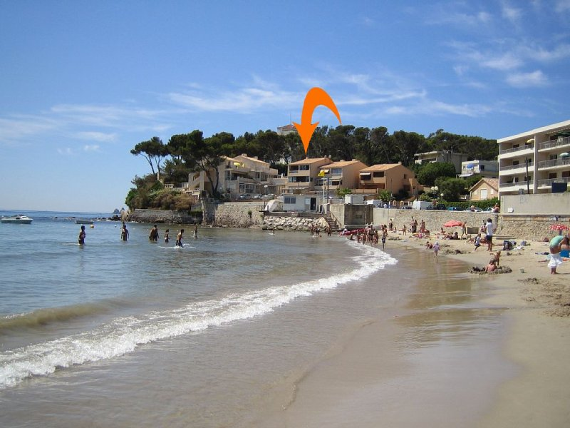 Vos vacances au bord de la plage de Mar Vivo, holiday rental in Tamaris-sur-Mer