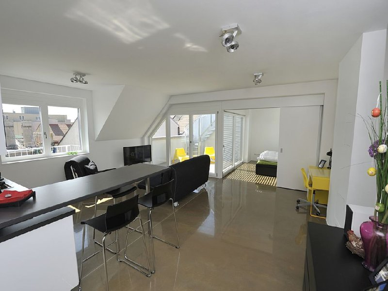 Modern, Architect-Designed Penthouse Loft With 2 Outdoor Roof Terraces – semesterbostad i Wien
